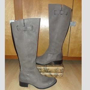 NWOB Born Gray Leather Riding boot